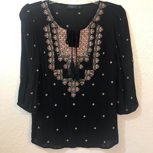 Just jeans sequined embroidery tunic size 8
